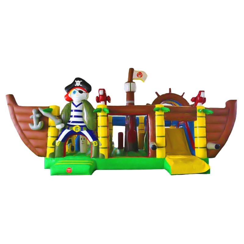 Achat Parcours Gonflable Bateau Pirate Multi-Activités, Château Gonflable Pirate, Parc Jeux Gonflables