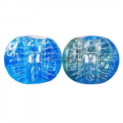 Bubble Foot Adulte TPU Fenetre Bicolore Bleu