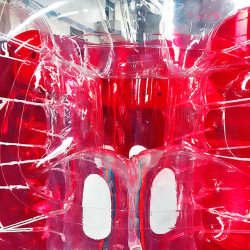 Achat Bubble Foot pour Foot en Bulle Taille Adulte TPU avec Fenêtre Bicolore Rouge