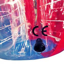Achat Bubble Foot pour Foot en Bulle Taille Enfants TPU avec Fenêtre Bicolore Rouge