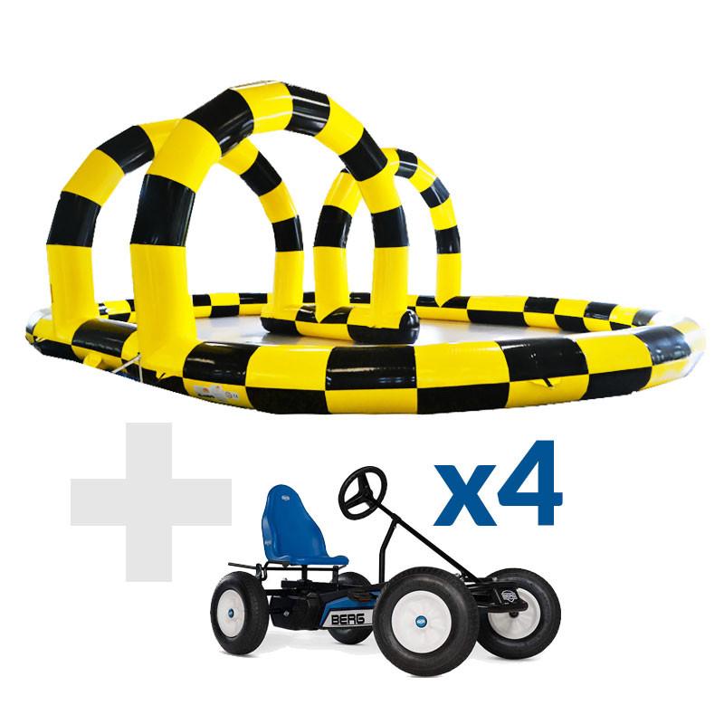 Pack Circuit 12x9m + 4 Karts Berg