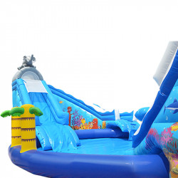 Location Parc Aquatique Gonflable Aqualand