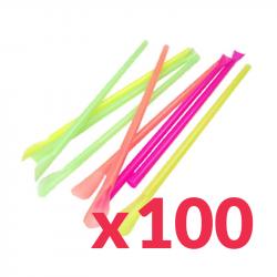Pack 100 Pailles Granité...