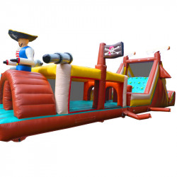 Parcours Pirate Gonflable 16m