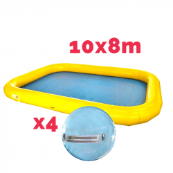 Bassin Gonflable 10x8m + 4 waterballs
