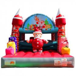 Achat Château Gonflable Occasion Père Noël : un parcours aux illustrations festives