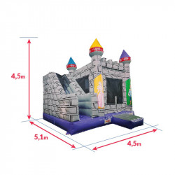 Achat Château Gonflable Occasion Chevaliers : dimensions