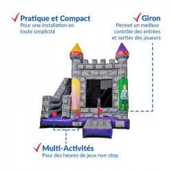 Achat Château Gonflable Occasion Chevaliers : pratique, multi-activités