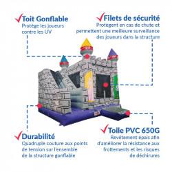 Achat Château Gonflable Occasion Chevaliers : sécurité renforcée