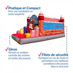Achat Château Gonflable Occasion Père Noël : qualité professionnelle