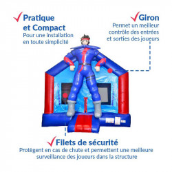 Achat Château Gonflable Occasion  Super Héros : sécurité renforcée