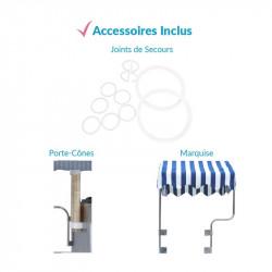 Achat Machine à Glace Italienne Pro Silver 2700w : les accessoires inclus