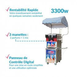 Achat Machine à Glace Italienne Pro Silver 3300w : les points forts