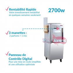 Achat Machine à Glace Italienne 2700w Porte Cônes : points forts