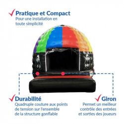 Achat Château Gonflable Disco : qualité professionnelle