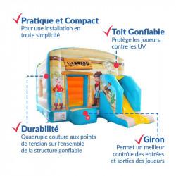 Achat Château Gonflable Western : qualité premium