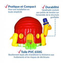 Achat Château Gonflable Tortue : sécurité renforcée