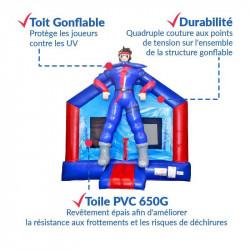 Achat Château Gonflable Super Héros : sécurité renforcée