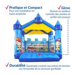 Achat Château Gonflable Pompier : sécurité professionnelle