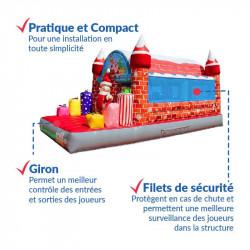 Achat Château Gonflable Père Noël : finitions de qualité professionnelle