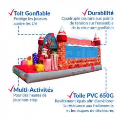 Achat Château Gonflable Père Noël : sécurité renforcée