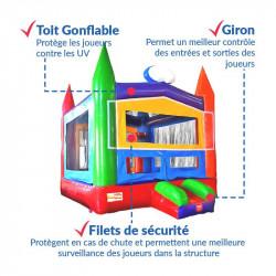 Achat Château Gonflable Ecolier : sécurité renforcée