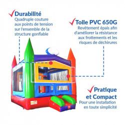 Achat Château Gonflable Ecolier : qualité premium