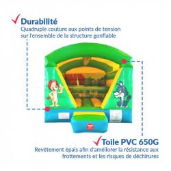 Achat Chateau Gonflable Cube Savane : qualité professionnelle