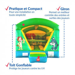 Achat Chateau Gonflable Cube Savane : sécurité renforcée