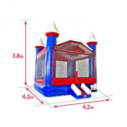 Chateau Gonflable Bleu Blanc Rouge : dimensions