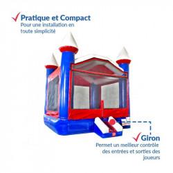 Chateau Gonflable Bleu Blanc Rouge : qualité premium