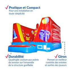 Achat Chateau Gonflable Pitchoune Cube Anniversaire 4m : sécurité renforcée