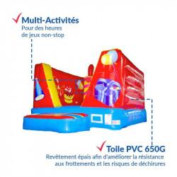 Achat Chateau Gonflable Pitchoune Cube Anniversaire 4m : qualité professionnelle