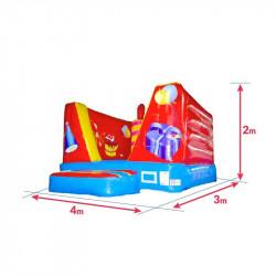 Achat Chateau Gonflable Pitchoune Cube Anniversaire 4m : dimensions