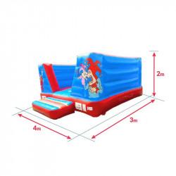 Achat Château Gonflable Clown 4M : dimensions