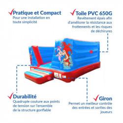 Achat Château Gonflable Clown 4M : qualité professionnelle