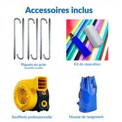 Achat Chalet Maison Gonflable : accessoires inclus