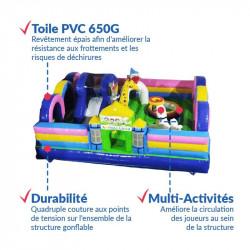 Achat aire de Jeux Gonflable Parc des Animaux : qualité professionnelle