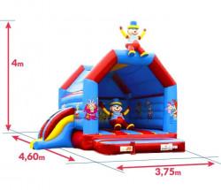 Achat Château Gonflable et Toboggan Gonflable Clown 4m : dimensions