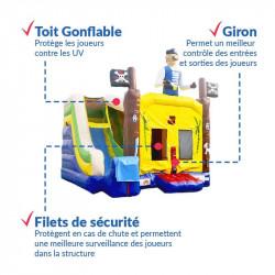 Achat Château Gonflable Pirate : sécurité renforcée