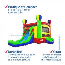 Achat Château Gonflable Toboggan Montgolfière : qualité professionnelle