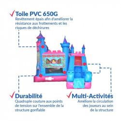 Achat Château Gonflable Princesse : qualité premium