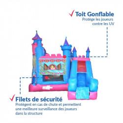 Achat Château Gonflable Princesse : sécurité renforcée
