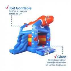 Achat Château Gonflable Poisson Clown : sécurité renforcée