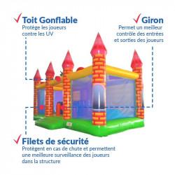 Achat Château Gonflable Dragon Médiéval : sécurité renforcée