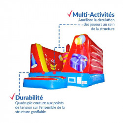Achat Chateau Gonflable Anniversaire 6m : qualité premium