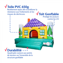 Achat Chalet Maison Gonflable : qualité premium