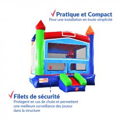 Achat Château Gonflable Arc En Ciel : finitions premium