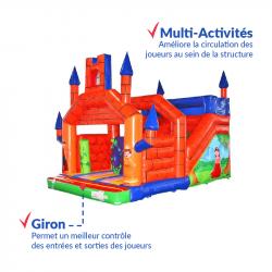 Achat Château Gonflable Médiéval : qualité premium