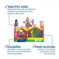 Achat Château Gonflable Fête du Cirque : qualité premium